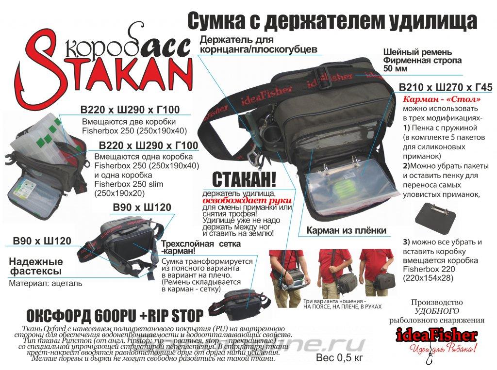 Cумка с держателем удилища Stakan Коробасс - фотография загружена пользователем 5