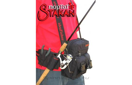 Поясная сумка с держателем удилища Stakan Портатиф правша черный - фотография загружена пользователем 1