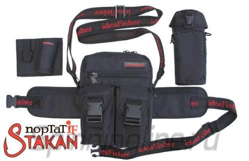 Поясная сумка с держателем удилища Stakan Портатиф правша черный - фотография загружена пользователем 2