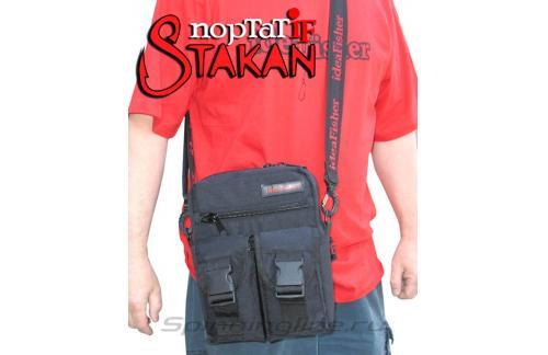 Поясная сумка с держателем удилища Stakan Портатиф правша черный - фотография загружена пользователем 4