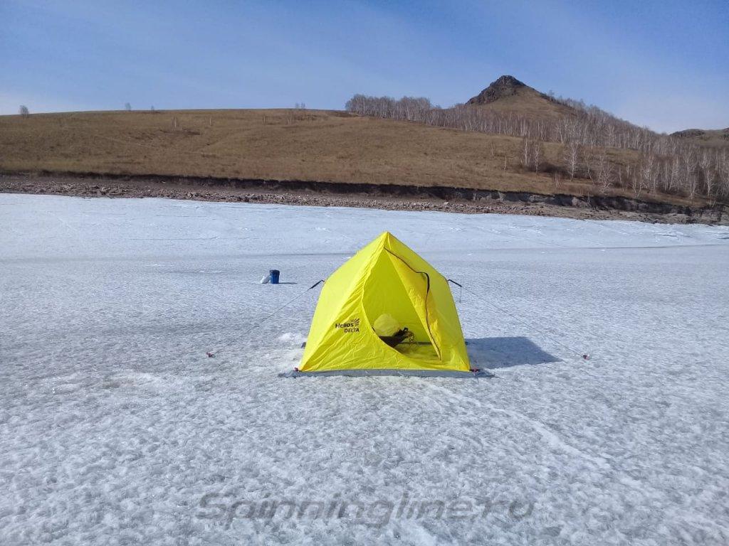 Палатка зимняя Helios двускатная Delta Yellow - фотография загружена пользователем 1
