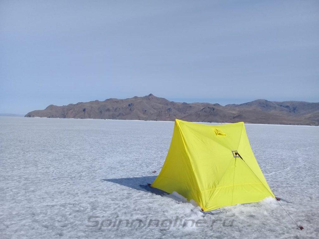 Палатка зимняя Helios двускатная Delta Yellow - фотография загружена пользователем 2